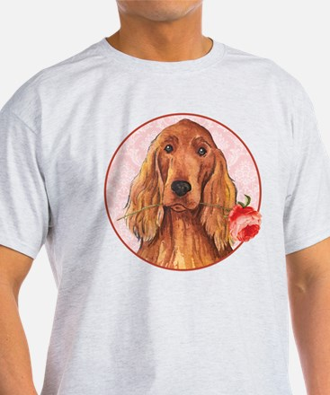 Irish Setter Rose White T-Shirt