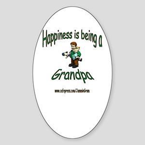 HAPPY GRANDPA Oval Sticker
