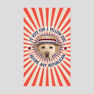 Yellow Dog II Sticker (Rectangle)