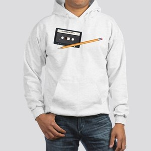 Cassette tape and Pencil Hooded Sweatshirt