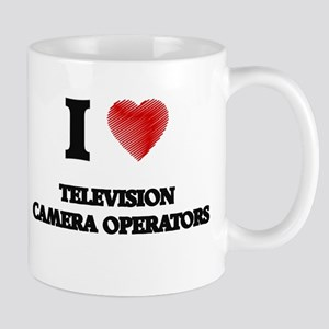 I love Television Camera Operators (Heart mad Mugs