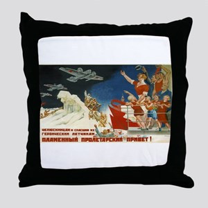 Vintage poster - Soviet Art Poster Throw Pillow