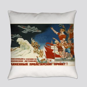 Vintage poster - Soviet Art Poster Everyday Pillow