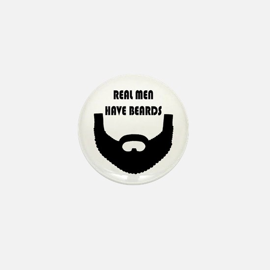 Real Men Have Beards Mini Button (10 Pack)
