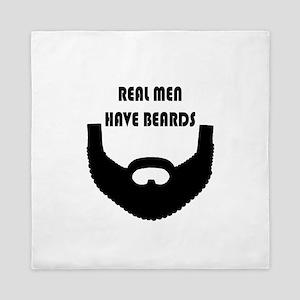 Real Men Have Beards Queen Duvet