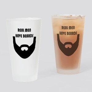 Real Men Have Beards Drinking Glass