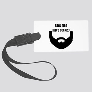 Real Men Have Beards Large Luggage Tag