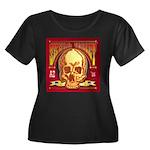 Skull Va Women's Plus Size Scoop Neck Dark T-Shirt