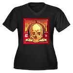 Skull Valley Women's Plus Size V-Neck Dark T-Shirt