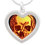 Skull Valley, AZ Silver Heart Necklace