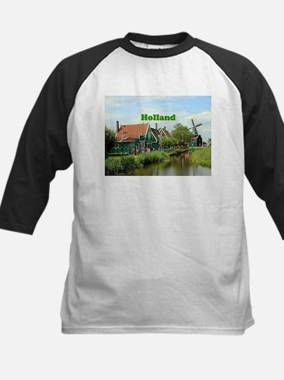 Holland: Dutch windmill village Baseball Jersey