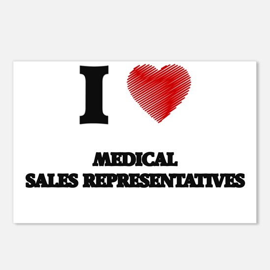 I love Medical Sales Repr Postcards (Package of 8)