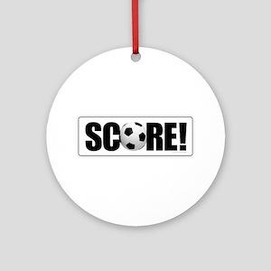Soccer Score! Round Ornament