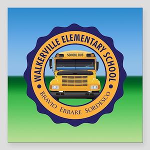 "Walkerville Elementary School Square Car Magnet 3"""