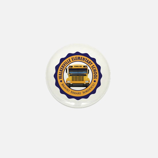 Walkerville Elementary School (Light) Mini Button