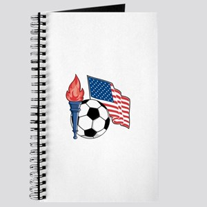 American Flag and Soccer Ball Journal