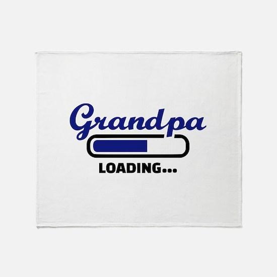Grandpa loading Throw Blanket