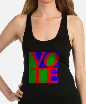 Exercise the Right to Vote Racerback Tank Top