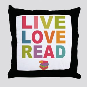 Live Love Read Throw Pillow
