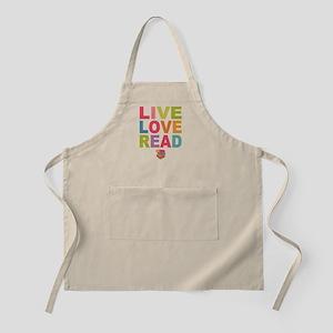 Live Love Read Apron