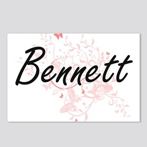 Bennett surname artistic Postcards (Package of 8)