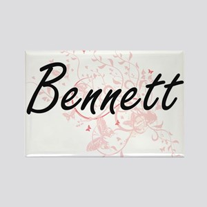 Bennett surname artistic design with Butte Magnets