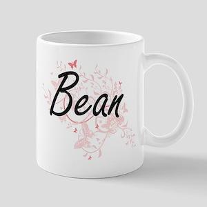 Bean surname artistic design with Butterflies Mugs