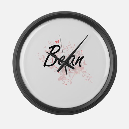 Bean surname artistic design with Large Wall Clock