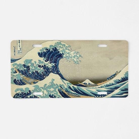 Unique Japanese wave Aluminum License Plate
