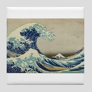 Vintage poster - The Great Wave Off K Tile Coaster