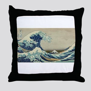 Vintage poster - The Great Wave Off K Throw Pillow