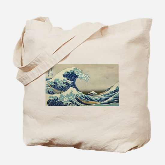 Vintage poster - The Great Wave Off Kanag Tote Bag