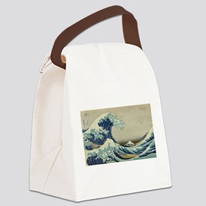 Vintage poster - The Great Wave O Canvas Lunch Bag