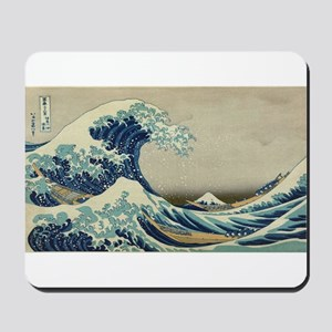 Vintage poster - The Great Wave Off Kana Mousepad