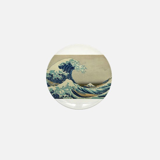 Vintage poster - The Great Wave Off Ka Mini Button