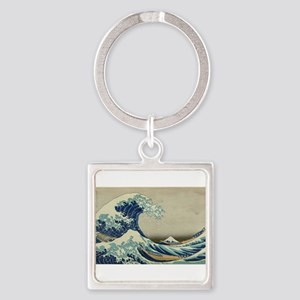 Vintage poster - The Great Wave Off Kana Keychains