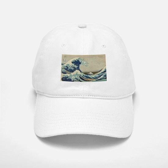 Vintage poster - The Great Wave Off Kanagawa Baseball Baseball Cap