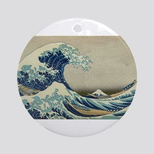 Vintage poster - The Great Wave Off Round Ornament