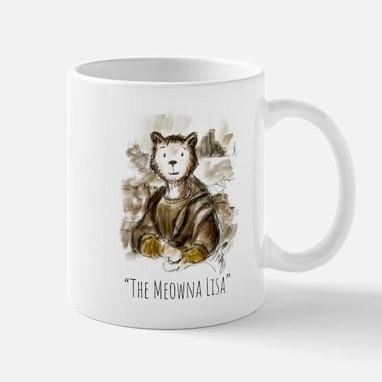Renaissance Meowna Lisa Mugs