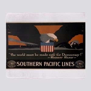 Vintage poster - Southern Pacific Throw Blanket