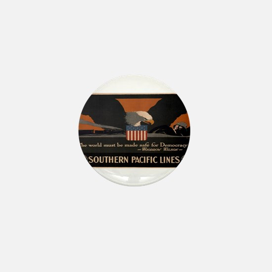 Vintage poster - Southern Pacific Mini Button