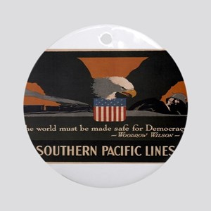Vintage poster - Southern Pacific Round Ornament