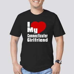 I Love My Connecticute Men's Fitted T-Shirt (dark)