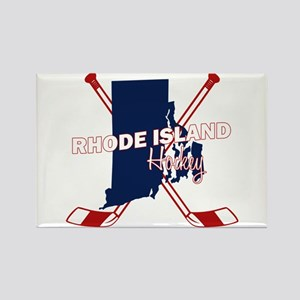 Rhode Island Hockey Rectangle Magnet