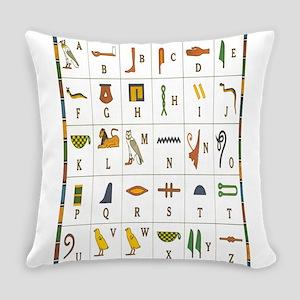 Hieroglyphics Alphabet Everyday Pillow