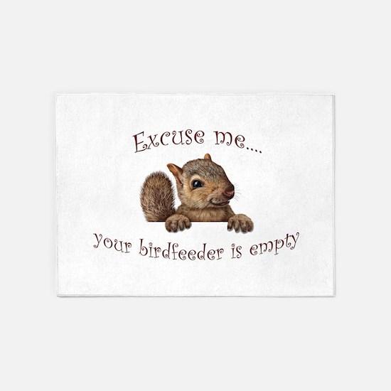 Excuse me...your birdfeeder is empty 5'x7'Area Rug