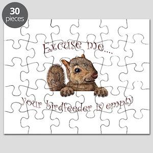 Excuse me...your birdfeeder is empty Puzzle