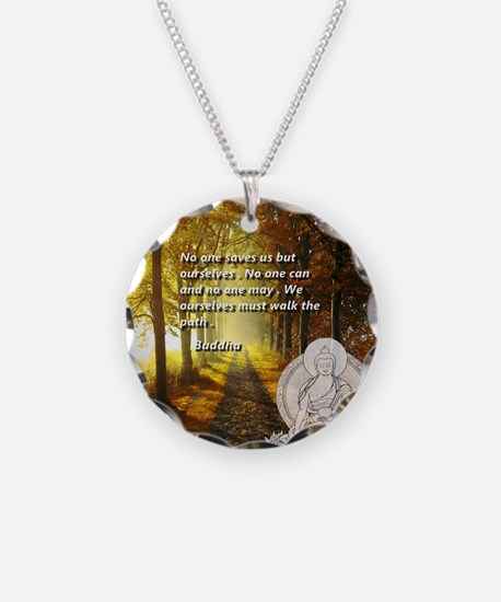walk the path Necklace Circle Charm
