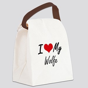 I Love My Wolfe Canvas Lunch Bag