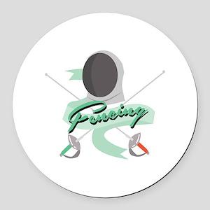 Fencing Round Car Magnet